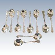 "Set Of !0 ""Kings"" Pattern Soup Spoons"