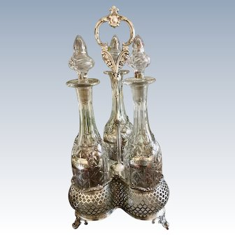 Crystal Decanters in Holder