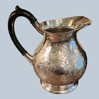 Ellis Barker Silverplated Embossed Water Pitcher
