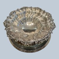 Ellis Barker Acanthus Leaf Border Centerpiece Compote (2 Available)
