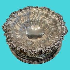 Acanthus Leaf Birder Centerpiece Bowl