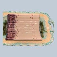 Handled French Majolica Asparagus Platter