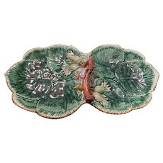 Mottahedeh Handled Majolica Tray