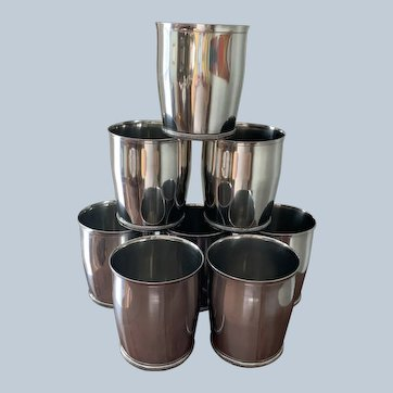 Set/8 Towle Pewter Julep Cups