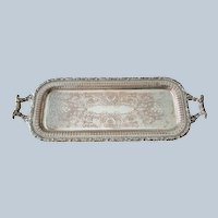 Ellis Barker Silver On Copper Drinks Tray C:1912-1921