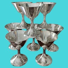 Set/8 Sterling Stieff Champagne