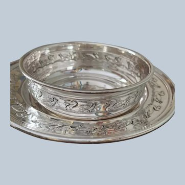 2 Pc Sterling Reed & Barton Duckling Plate And Bowl