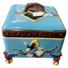 Mottahedeh Museum Reproduction Majolica Box