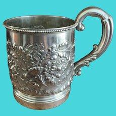 Antique Gorham Sterling Christening Cup/Mug C:1890