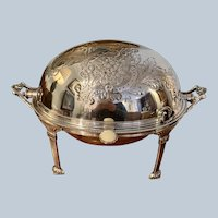 Henry Atkins English Revolving Top Breakfast Dish C:1876-1898