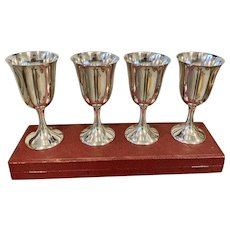 "Set/4 Sterling 6 1/2"" Goblets By M. Fred Hirsch"