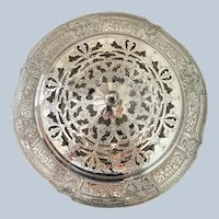 "EG Webster & Son 11""  Silver On Copper Centerpiece Bowl C:1866-1916"