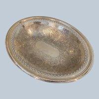 Ellis Barker Silver On Copper Center Piece Bowl C:1922