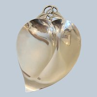 Tiffany Sterling Heart Shaped Leaf Dish (Large)