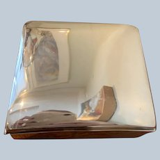Silver On Copper Wood Lined Jewel Box C:1960