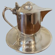 Wallace Syrup Pitcher With Attached Tray