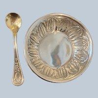 Sterling Salt Keep and Spoon