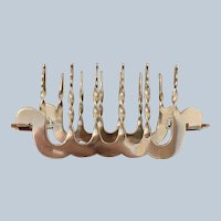 Unusual Shaped 5 Slice Silver-plated Toast Rack