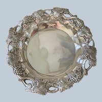 Silver-plated Wine Coaster By Mottahedeh C:1980