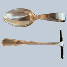 2 Piece English Silver Plated Christening Set C:1905