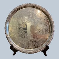 Ellis Barker Fancy Border Round Tray 12 1/2""