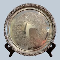 Ellis Barker Fancy Border Round Tray 10""