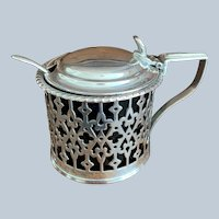 English Silver On Copper Condiment Dish