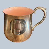 Reed & Barton Silver Plated Pink Enamel-lined Baby Cup