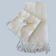 Vintage English Damask Linen 'Show' Towels 5 Available
