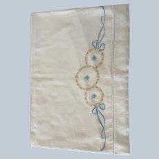 Vintage English Batiste Crib Top Sheet C:1950