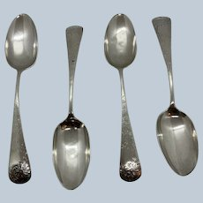 4 Available Antique Chrysanthemum By Gorham Serving Spoons C:1885