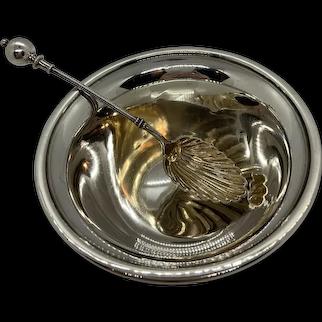 Watrous Sterling Pedestal Bowl W/ Sterling Spoon