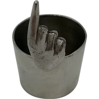 English Pewter Single Finger Jigger C:1970
