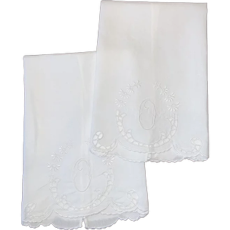 Pair Of English Guest Towels C:1950