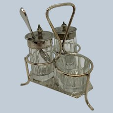 5 Piece English Cruet Set