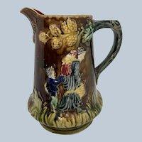 Antique Majolica Pitcher W/ Oak Leaf Design