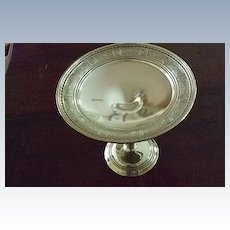 """""""Wedgwood"""" By International Sterling Compote 4.79 Troy Oz"""