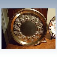 """Antique English 12"""" Embossed Tray Dating:1884"""