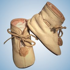 Antique Doll UNIQUE BOOT SHOES For Jumeau, Steiner, Kestner, Bru and other French and German Dolls