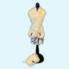 EXQUISITE Fur Muff and Stole Set for your Fashion, French Or German Doll FINAL MARKDOWN