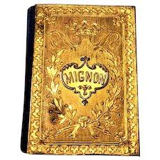 Antique 19th Century VIENNESE Miniature MIGNON Book 1892 ALMANAC