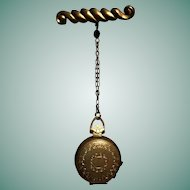 Doll CHATELAINE Fob 4 Picture Locket with a UNIQUE Latch