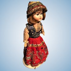 Armand Marseille German Doll With Embroidered Beaded Dress and Bonnet FINAL PRICE REDUCTION