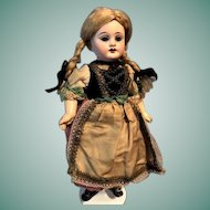 Antique Armand Marseille 1894 Lovely German Doll  10 Inch Bisque Nine Way JOINTED ORIGINAL