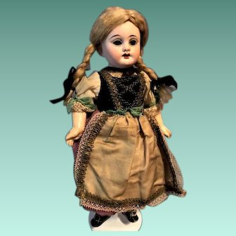 Early Lovely German Doll  10 Inch Bisque Nine Way JOINTED ORIGINAL