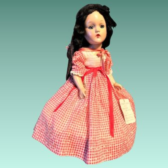 Vintage 1930's Gone With The Wind  Madame Alexander SCARLETT O'HARA Composition Doll ~ Original Dress Authentic Original Doll Hang Tag