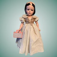 Madame Alexander Snow White Doll All Original With TAG And CURLER BOX 1952