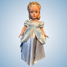 Vintage Madame Alexander Cinderella Doll With AMAZING SLIPPERS And TIARA 1940-50's