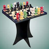 Steiff ULTRA RARE Teddy Bear CHESS SET Limited Edition RARITY Collectors Unique SOLD OUT!