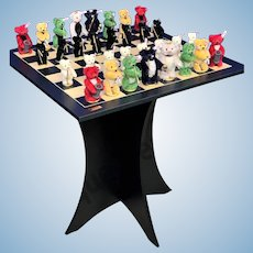 Steiff  CHESS SET ULTRA RARE Teddy Bear Limited Edition RARITY Collectors Unique SOLD OUT!